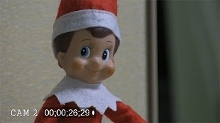 Download Security cameras catch Elf on a Shelf moving in office Video