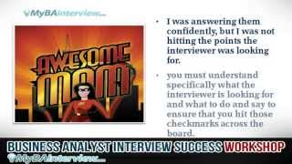 Download Business Analyst Interview Workshop - Introduction and Interview Success (Video 1 of 6) Video