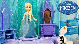 Download Frozen Elsa's Ice Lightup Palace Featuring Olaf Play Doh Bed Toys Review by Disney Cars Toy Club Video