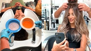 Download TOP 10 Hair Transformations by Professional | Amazing Hairstyles by mounir salon Video
