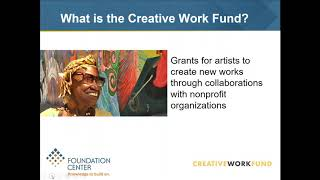Download How to Successfully Apply to the Creative Work Fund Video