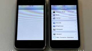 Download iOS 4 Performance on iPhone 3G (Camera and Settings) Video