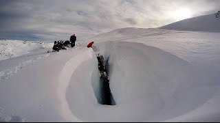 Download GoPro: Snowmobile falls into bottomless crevasse Video