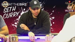 Download NBA star Seth Curry plays huge poker hand ♠ Live at the Bike! Video