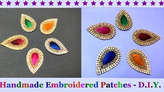 Download How to Make Designer embroidered Patch work at Home |Designer Saree/Blouse Patch Making at Home-DIY Video