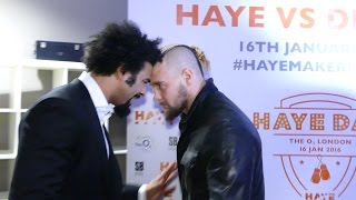 Download DAVID HAYE v MARK DE MORI HEATED FACE TO FACE at the O2 Video