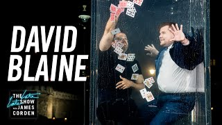 Download David Blaine Goes Underwater for a Card Trick & Wine - #LateLateLondon Video