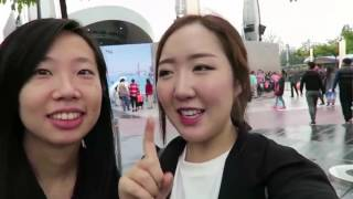 Download 韓國妹子遊中國上海迪士尼,好奇為什麼說英語(Shanghai of China) Video
