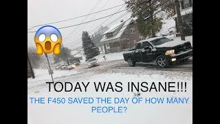 Download TAKING OUT MY LIFTED FORD F450 TO HELP PEOPLE IN TERRIBLE SNOW AND ICE STORM!! 11/15/18 Video