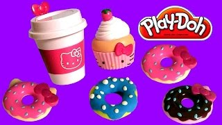 Download Play Doh Hello Kitty Donuts For Breakfast Play-Dough Beignets Doughnuts キャラクター練り切り ハローキティ Video