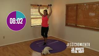 Download 10 Minute Total Body Workout - At Home Strength Training With Dumbbells, Fat Burning, Sculpting Video