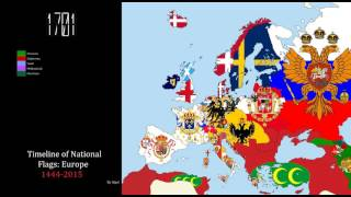 Download Timeline of National Flags: Europe (1444-2015) Video