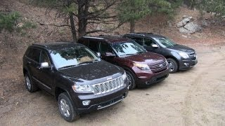 Download 2013 Chevy Equinox v Ford Explorer v Jeep Grand Cherokee Off-Road Mashup AWD Tech Review Video