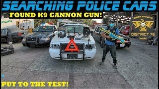 Download Searching Police Cars Found A K-9 Cannon Non Lethal Gun! Video