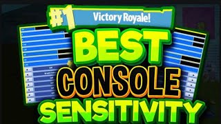 Download BEST CONSOLE SENSITIVITY TO PLAY FORTNITE ON! SHOOT AND BUILD LIKE A PRO! Video