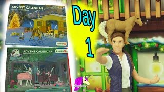 Download Schleich Horses Christmas Horse Club Advent Calendar + Playmobil Surprise Blind Bag Toys Day 1 Video