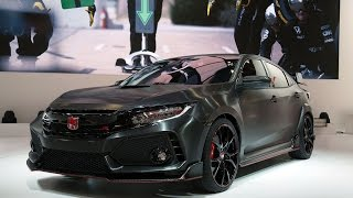 Download 2018 Honda Civic Type R Prototype First Look - 2016 Paris Motor Show Video