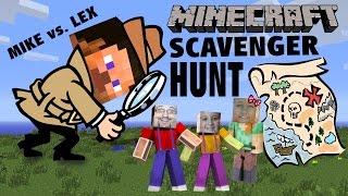 Download Minecraft Scavenger Hunt w/ Dad & Kids! (Pocket Edition Game) Mike vs. Lex - CREATIVE FUN! Video