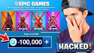 Download Epic Games Hacked My Account... *LOST HALF MY SKINS* Video