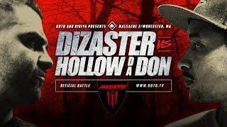 Download KOTD - Rap Battle - Dizaster vs Hollow Da Don | #MASS3 Video