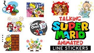 Download Even More Super Mario Animated Stickers | Line Sticker Showcase Video