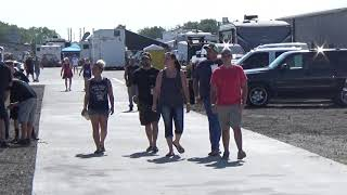 Download Looking at the people parked near the finish line at Redemption 14 on 8-25-18 Video