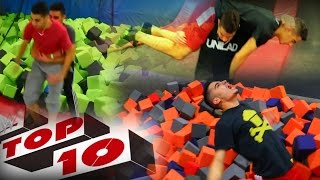 Download TOP 10 WWE MOVES AT THE TRAMPOLINE PARK Video