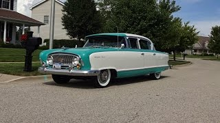 Download 1955 Nash Ambassador Super in Caribbean Blue & White & Start Up on My Car Story with Lou Costabile Video