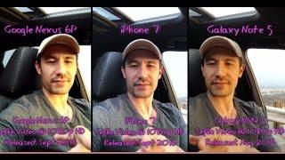 Download Nexus 6P vs iPhone 7 vs Galaxy Note 5   Video Camera Review Comparison Test Video