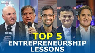 Download Top 5 Entrepreneurship Lessons From Most Successful Entrepreneurs   Life Lessons   Startup Stories Video