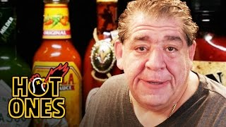 Download Joey ″CoCo″ Diaz Breaks Out the Blue Cheese While Eating Spicy Wings | Hot Ones Video