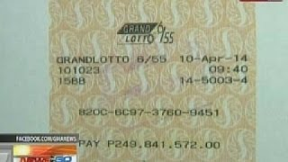 Download NTG: PCSO: Lone winner ng P250M sa Grand Lotto 6/55, kinuha na ang premyo Video