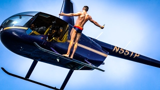 Download OLYMPIC MEDALIST BACKFLIPS OUT OF A HELICOPTER Video
