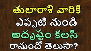 Thula Rasi Phalalu 2020 In Telugu || Libra Horoscope || Astrology