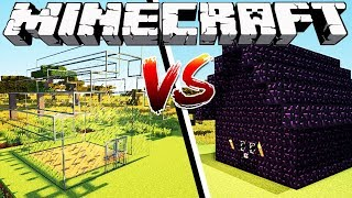 Download GLASS HOUSE VS OBSIDIAN HOUSE - Minecraft Video