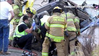 Download vehicle accident heavy extrication Hugo, Oregon Video