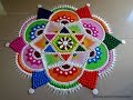 Very easy and attractive multicolored kolam for festivals | Rangoli by Poonam Borkar