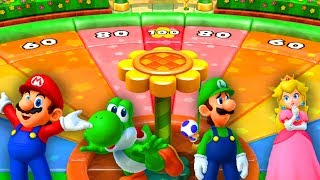 Mario Party 4 MiniGames - Mario Vs Luigi Vs Peach Vs Daisy