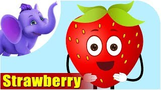 Download Strawberry Fruit Rhyme for Children, Strawberry Cartoon Fruits Song for Kids Video