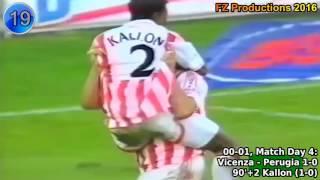Download Mohamed Kallon - 39 goals in Serie A (Cagliari, Reggina, Vicenza, Inter 1998-2004) Video