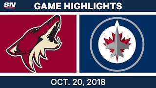 Download NHL Highlights | Coyotes vs. Jets - Oct. 20, 2018 Video