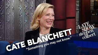 Download Cate Blanchett Explains Where Her Moral Compass Lies. Anatomically. Video