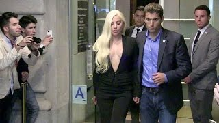 Download Lady Gaga goes out of Mr Chow restaurant in New York Video