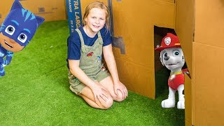Download Paw PAtrol and PJ Masks Ultimate Box Fort Hide N Seek Challenge with the Assistant Video