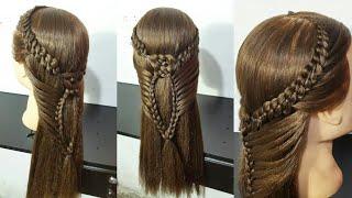 Download Peinado | trenza de 4 y nudo| Video