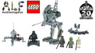 Download Lego Clone Scout Walker 20th Anniversary Edition - Lego Star Wars 75261 Speed Build Video