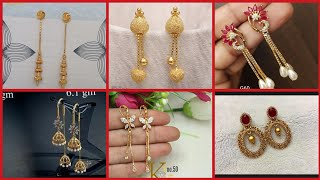 Download Marvelous Gold earring collection with pearls & different types of stones/cool ideas of Gold earring Video