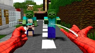 Download REALISTIC MINECRAFT ~ STEVE BECOMES SPIDERMAN Video