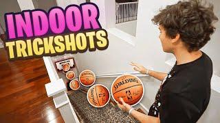 Download *CRAZY* INDOOR 2HYPE MINI HOOP BASKETBALL TRICKSHOTS!! Video