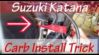 Download How to EASILY Install 94 Suzuki Katana Carbs Video